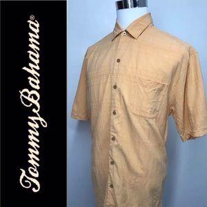TOMMY BAHAMA Short Sleeves Casual Shirt  L Silk